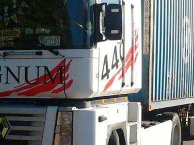 Ciężarówka z kontenerem morskim